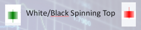 WHITE or BLACK Spinning Top
